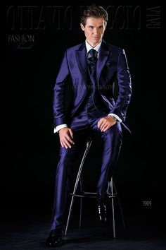 Midnight blue three piece wedding suit  groom  tuxedo  luxury  menswear   dapper ee3fd9562a8