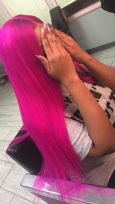 Lace Frontal Wigs Pink Hair Baby Pink Short Hair For Women – wigbaba Love Hair, Gorgeous Hair, Weave Hairstyles, Cute Hairstyles, Pink Short Hair, Hair Colorful, Short Hair Styles, Natural Hair Styles, Colored Wigs