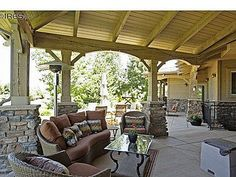 Patio off walk-out basement & walk out basement covered patio | Dream House | Pinterest ...