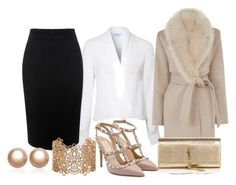 """""""27-12-2015"""" by vicinogiovanna ❤ liked on Polyvore featuring Lipsy, Alexander McQueen, Warehouse, Valentino, Yves Saint Laurent, Forever 21 and Amour de Pearl"""