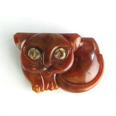 Vintage Compact Avon Honey Cat Collection 1973 Faux Tortoise Shell Figural Kitty