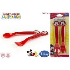 Set 2 cubiertos PVC Mickey