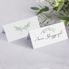 Lily Of Valley, Maila, Place Cards, Place Card Holders, Products, Gadget