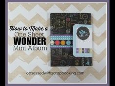 One Sheet Wonder Travel Mini Album - YouTube ... link to Design Space file