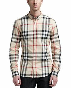 Burberry mens shirt! I actually own this and I love it!!!