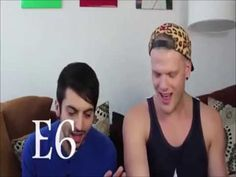 Mitch Grassi (whistle register) vs. Eric Stewart (10cc) (normal register) Scott Hoying, Mitch Grassi, Rock Groups, Pentatonix, American Singers, Record Producer, Hate, Youtube