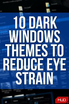 Computer screens can be glaringly bright, especially in the dark. Try reducing eye strain by using a dark Windows visual style and web browser theme. #HowTo #BestOf #Themes #Customization #DarkMode #DarkTheme #Dark #Settings #Windows #Windows10 #Microsoft Windows Themes, Windows Software, Best Windows, Windows Operating Systems, Eye Strain, Web Browser, Screens, Microsoft