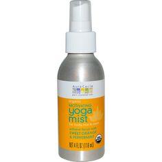 Aura Cacia Organic Yoga Mist - Motivating Sweet Organe and Peppermint - 4 oz