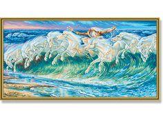 De paarden van Neptunus - Schilderen op Nummer - Schipper - 40 x 80 cm