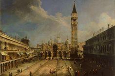 Canaletto, Piazza San Marco a Venezia, 1723, olio su tela, Museo Thyssen-Bornemisza, Madrid