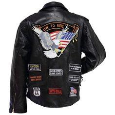buffalo leather motorcyle jacket size xl