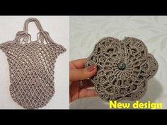 alışveriş çantası yapımı tığ işi - YouTube Crochet Market Bag, Crochet Tote, Free Crochet, Knit Crochet, My Bags, Purses And Bags, Fabric Crafts, Sewing Crafts, Net Shopping