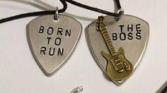 Bruce Springsteen guitar pick jewelry.