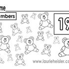 Count the bears and color math worksheets*20 worksheets included numbers 1-20...