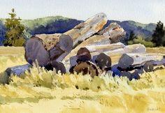 Jumble by Mike Kowalski Watercolor ~ 9 x 12