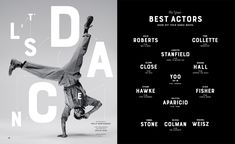The New York Times Magazine / Great Performers, Annual ID: Award: Gold Cube , Category: Photography - Portraiture / Series Magazine Design, Magazine Layouts, Page Layout Design, Yoo Ah In, New York Times Magazine, Magazine Spreads, Graphic Design Typography, Best Actor, Editorial Design