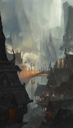 Medieval Cave City on Behance Fantasy concept art Fantasy city Concept art