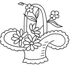 cesta de flores 12 por el amor a coser, a través de Flickr