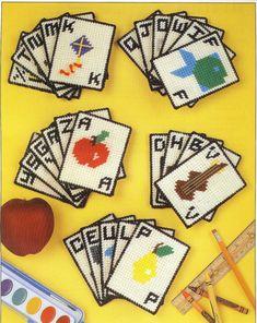 Alphabet Flash Cards Plastic Canvas by needlecraftsupershop, $3.50 plasticcanva, plastic canva