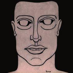 Uomo. (illustration mixed technique)  Lino Elías Sapiainen.