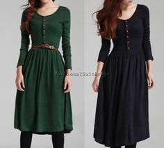 maxi dress black dress green dress cotton dress long dress winter dress women dress women clothing long sleeve dress spring dress outerwear