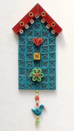 Quilled House with a Little Bird/Biljana's House by Suzana Ilic