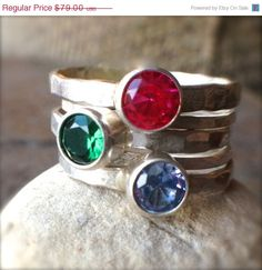 25% OFF  Mothers Ring mothers stacking ring by twochickstoo