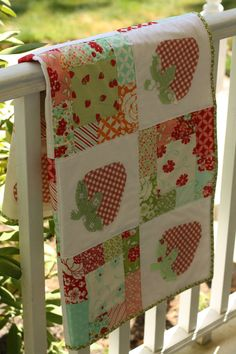 the Strawberry Patch quilt pattern PDF by EmilyAnnsKloset on Etsy