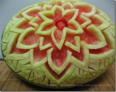 Watermelon Food Carving - So creative and Visual - The Gardening Cook