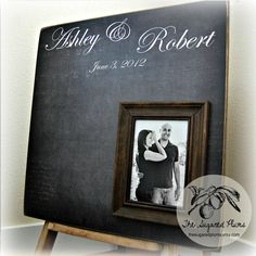 Guest Book Wedding Personalized Picture Frame 20X20 Customizable 100 to 150 Guests Alternative Guest Book Wedding Decoration. $80.00, via Etsy.