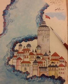 Istanbul, Taj Mahal, Vintage World Maps, Projects To Try, Miniatures, Watercolor, Artist, Painting, Pen And Wash