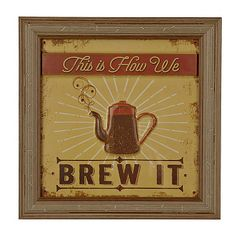 How We Brew It Framed Art Print-cute..perfect for coffee area