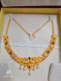Gold Jewellery Design, Gold Jewelry, Jewelery, Gold Necklace Simple, Beaded Necklace, Necklaces, Gold Choker, Indian Bridal, Necklace Designs