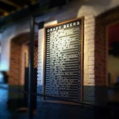 Our Beer Board  Photo by candacedavis