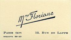 Parisian Prostitutes Calling card - 1925-35 - @~ Mlle