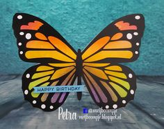 Meijboompjes Creatieve Creaties: Vlinderkaart  #silhouettecameo #vlinder #distressinkt