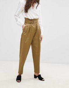 Mango Highwaist Utility Trousers