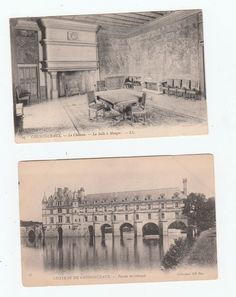 Chateau de Chenonceaux , two Postcards early 1900's unused not stamped