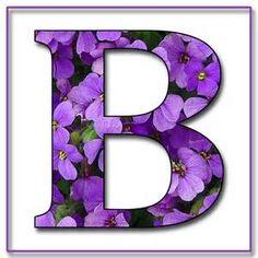 Alphabet Letters Purple Flowers - Bing Images