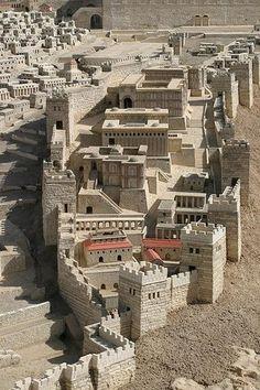 Ancient Jerusalem - City of David Model  Join https://www.facebook.com/pages/Israel-Information-Center-Ithaca/1513322575572798