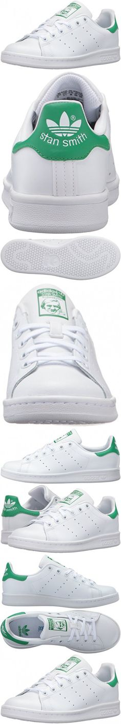 Adidas Originals Boys' Stan Smith J Skate Shoe, White/White/Green, 6.5 Medium US Big Kid