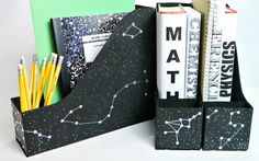 Organize your magazines and notebooks.