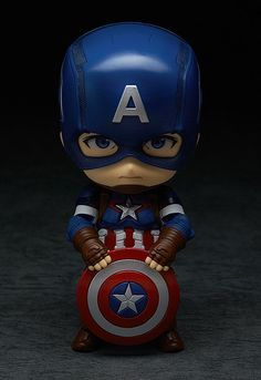 The next of the Avengers to join the Nendoroids - Captain America! From 'Avengers: Age of Ultron' comes a figure of the leader of the Avengers, Captain America! The fully articulated Nendoroid has been carefully sculpted and painted with his u. Movie Night For Kids, Batman Gifts, Captain America Wallpaper, Avengers Wallpaper, Wallpaper Iphone Disney, Ghost In The Shell, Kid Movies, Cute Chibi, Marvel Dc Comics