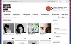http://www.londonfashionweek.co.uk/designers.aspx