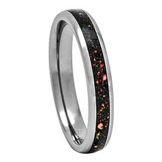 PCH Jewelers Tungsten Wedding Ring Created-Opal Band Size 5 to 10 Fire Opal Colors/Gift Idea Wedding Band Sets, Womens Wedding Bands, Wedding Rings For Women, Rings Cool, Unique Rings, Tungsten Carbide Wedding Bands, Engagement Rings For Men, Dom, Wedding Jewelry