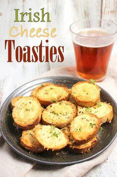 Irish Cheese Toasties - The Best Irish Recipes Irish Appetizers, Irish Desserts, Appetizer Recipes, Cheese Appetizers, Asian Desserts, Appetizer Ideas, Easy Irish Recipes, Scottish Recipes, British Recipes