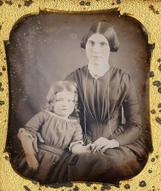 SWEET SIXTH PLATE DAGUERREOTYPE OF A MOTHER AND CHILD