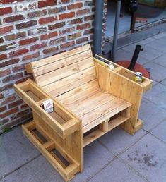 34 Ideas For Diy Garden Furniture Pallet Woodworking Projects Diy Furniture Chair, Pallet Garden Furniture, Rustic Furniture, Home Furniture, Antique Furniture, Pallette Furniture, Outdoor Furniture, Furniture Ideas, Wooden Pallet Projects