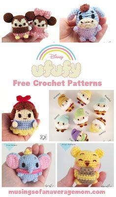 Tons of free super adorable Disney Ufufy Crochet Patterns Disney Crochet Patterns, Pokemon Crochet Pattern, Crochet Disney, Crochet Amigurumi Free Patterns, Crochet Designs, Crochet Toys, Free Crochet, Minion Pattern, Knitting Yarn Diy