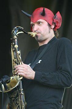 Skerik... very EVIL on the sax! ~ http://ropeadope.com/images/uploads/news_images/les-claypool3.jpeg